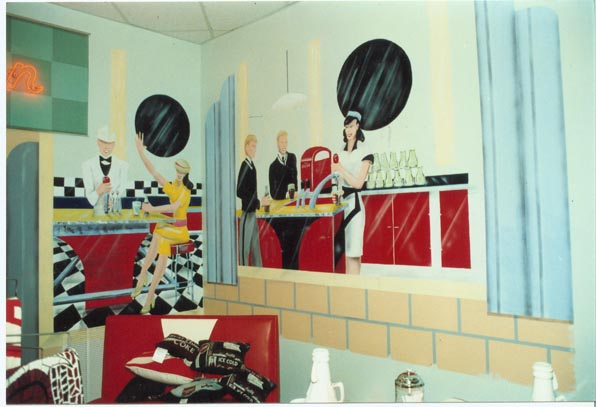 Airbrushed, Art Deco Wall Mural Title: Uptown Client: Residential Mural  Houston, TX Dimensions: 17 Ft. Tall X 40 Wide. Medium: Airbrush Mural,  Acrylic On ... Part 43